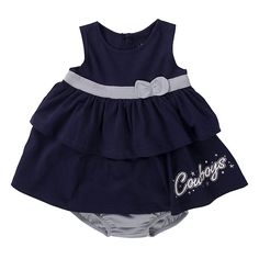 Dallas Cowboys Girl's Infant Rowdy 2-Piece Dress and bloomers set at shop.dallascowboys.com.