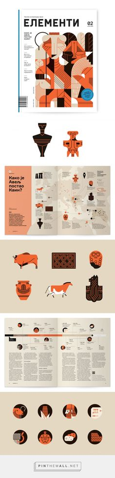 Elementi Magazine 2 – illustrations on Behance... - a grouped images picture - Pin Them All