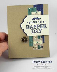 Stampin' Up! Truly Tailored & True Gentleman Designer Series Paper card by Dawn Olchefske for DOstamperSTARS Thursday Challenge #DSC273 #dostamping #stampinup #handmade #cardmaking #stamping #diy #rubberstamping #papercrafting #truegentlemanDSP #trulytailored #masculinecards #bigshot