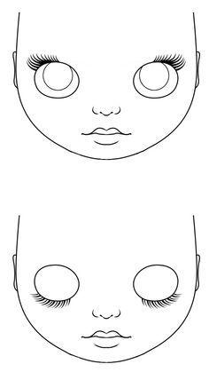 Doll eyes diy faces Ideas - Her Crochet Doll Face Paint, Doll Painting, Bjd Doll, Bratz Doll, Rag Dolls, Barbie Dolls, Doll Eyes, Doll Tutorial, Sewing Dolls