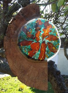 Becoming Autumn - Contemporary Fused Glass Garden Sculpture £90.00