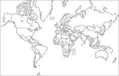 planisferio en blanco y negro - Buscar con Google