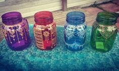 Mason Jars #masonjar #henna #decor #diy #craft