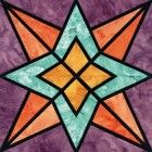 Stained Glass Night & Day Quilt Block Pattern