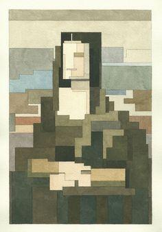 Mona Lisa. © Adam Lister. http://www.yatzer.com/adam-lister