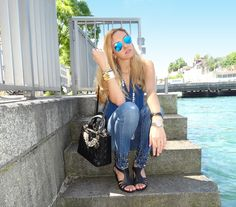 Studded Jeans    #Limited   #edition   #lady   #Dior   #Pearls   #Black   #Roberta  #Biagi   #studded   #jeans   #Studs   #Love   #Culture   #Navy   #Top  #Hermes   #Collierdechien   #Wedge   #Adrienne   #Vitaddini   #Pearl#Pearl   #Rayban   #Sunglasses   #Zurich   #Switzerland   #Limmat  #River   #Summer   #Sun