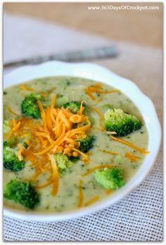 Crockpot Cheesy Cream of Broccoli Soup