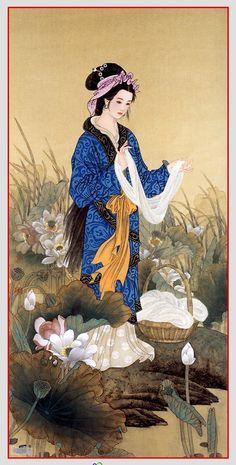 觀賞古代仕女圖、我比較會注意在服飾,配飾.欣賞每一個朝代不同的風格.
