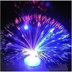 Colour Changing Fibre Optic Ice Lamp Fountain Safe Battery