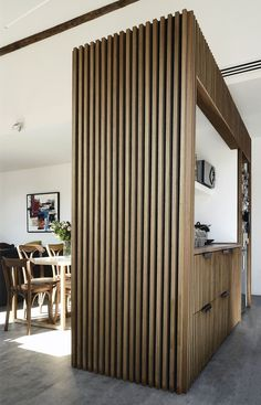 Modern Interior Design, Interior Design Inspiration, Interior Design Living Room, Interior Architecture, Interior Decorating, Timber Slats, Timber Cladding, Wood Slat Wall, Wood Interiors