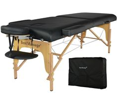 New BestMassage Black 77'L 3' Pad Portable Massage Table Facial Bed Spa Chair -- You can find out more details at the link of the image.