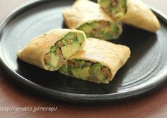 Crispy Fried Avocado and Natto Wraps Recipe -  Very Delicious. You must try this recipe!
