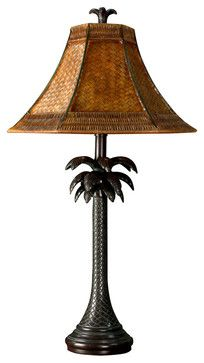 Stylecraft French Verdi-Finished Resin Palm Tree Table Lamp - transitional - Table Lamps - Lighting Front