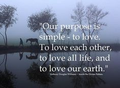 """""""Our purpose is simple...""""  ---Anthony Douglas Williams."""