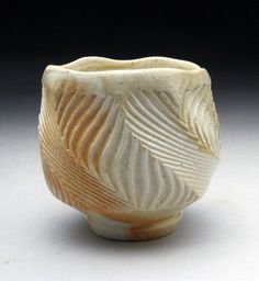 WoodFired Porcelain Sake Cup (Guinomi) or Tea Cup