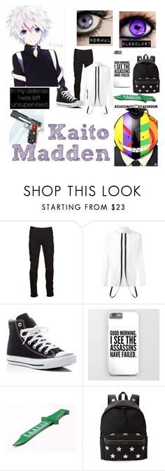 """""""Kaito Madden ~ School Outfit ~ Assassination Classroom OC"""" by silverspirit11 ❤ liked on Polyvore featuring Marcelo Burlon, La Maison, Dsquared2, Converse, Yves Saint Laurent, men's fashion and menswear"""