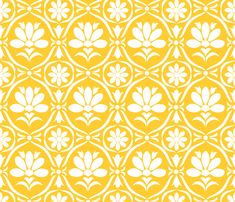 Sunglow Flower Damask fabric by natitys on Spoonflower - custom fabric