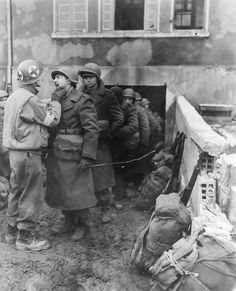 Soldiers getting their teeth checked by medics, c. 1944 ~