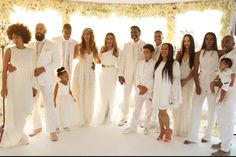 Beyoncé's Mom Got Married & It Was Magical  #refinery29  http://www.refinery29.com/2015/04/86275/beyonce-tina-knowles-richard-lawson-blue-ivy-wedding-photographs#slide-9  If this isn't a perfect family wedding photo, we don't know what is.