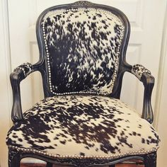 Classic Cowhide French Chairs