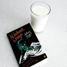 A glass of moloko with knives for all my droogs! It's crazy how easy it is to get into the hang of reading nadsat :) #bookstagram #moloko #molokowithknives #aclockworkorange #anthonyburgess #nadsat #korovamilkbar #droogs #classic #books #penguinbooks #bookblogger #bookish #bibliophile #literature #currentlyreading