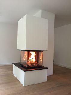 Toller Blick Auf Das Feuer Bietet Der Cubeo, Hier Modern Verbaut. #Kamin #