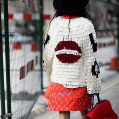 Street style at London Fashion Week AW15. See more http://seen.co/event/2015-london-fashion-week---day-4-london-u.k.-2015-8138/highlight/182725