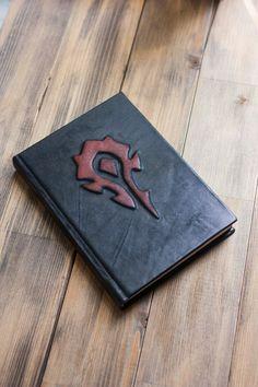 Items similar to Warcraft Horde journal World of Warcraft inspired Leather journal Warcraft notebook Blank book Warcraft Horde book on Etsy World Of Warcraft, Art Warcraft, Journal En Cuir, Blizzard Warcraft, For The Horde, Blank Book, Leather Books, Gamer Gifts, Books
