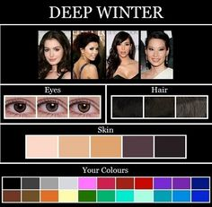 Ooh Très Chic: THE SKIN TONE SEASONS: WINTER