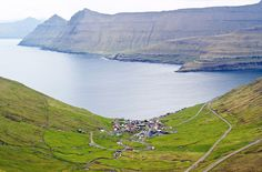 Faroe Islands in North Atlantic