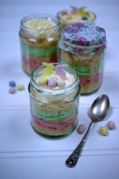 Something a bit different - try making cupcakes in jars for edible Easter gifts or a pretty dessert