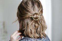 DIY Brass Circle Barrette @themerrythought