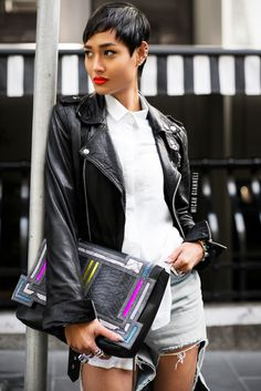 Micah Gianneli_Best top personal style fashion blog_Rihanna style_Street style editorial_Barbara Bonner_Wanted Shoes_Marques Almeida_Leather...