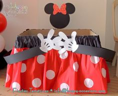 Mickey Mouse Paper Fan Rosette Wall Decor Backdrop Party