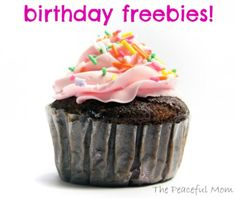 Birthday Freebies--The Peaceful Mom