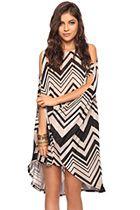 Flowey striped dress