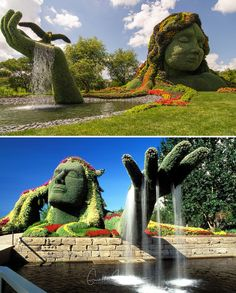 Mosaïcultures Internationales, Montreal, Canada (Currently Closed)  --OMG IT'S MOANA --