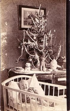 This was taken on this young man's 1st Christmas 1924. Love the photo