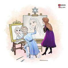Frozen Self Portrait Princess Movies, Disney Princess Frozen, Sailor Princess, Disney Memes, Disney Cartoons, Disney And Dreamworks, Disney Pixar, Frozen Jokes, Ben 10 Comics