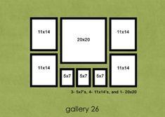 wall arrangement idea by stacie