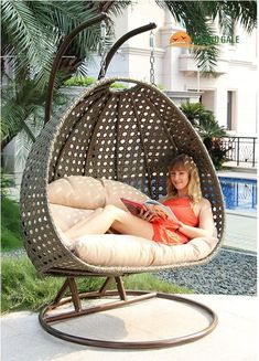 Details about 2 Person Heavy Duty Double Hammock Porch Swing Chair Outdoor Swing Details about 2 Person Heavy Duty Double Hammock Porch Swing Chair Outdoor Swing Wicker Swing, Egg Swing Chair, Wicker Lounge Chair, Hanging Swing Chair, Hammock Chair, Swinging Chair, Patio Chairs, Outdoor Chairs, Room Chairs