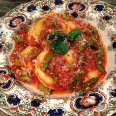 #Rapini and goat cheese ravioli with homemade #Marinara Witt #asparagus sauce #cookingwithzac