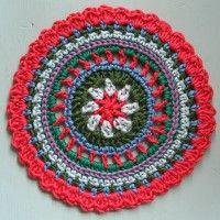 Crochet Mandala Wheel made by  Vicky, Essex, UK, for  yarndale.co.uk