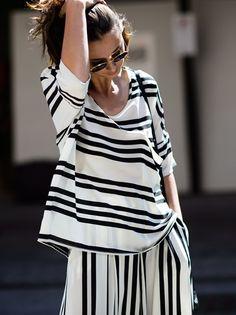 #EleanorPendleton getting her stripe on. Sydney.
