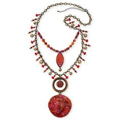 Orange Beaded Necklace - jcpenney