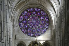 Laon Cathedral east rose stained glass window (High Gothic)