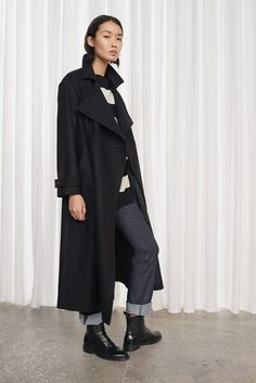 Platform Felt Cinched Waist Coat