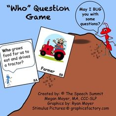 Who Question Game FREEBIE. Repinned by SOS Inc. Resources pinterest.com/sostherapy/.