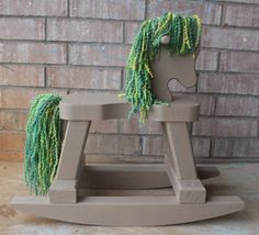 Rocking Horse mane and tail DIY