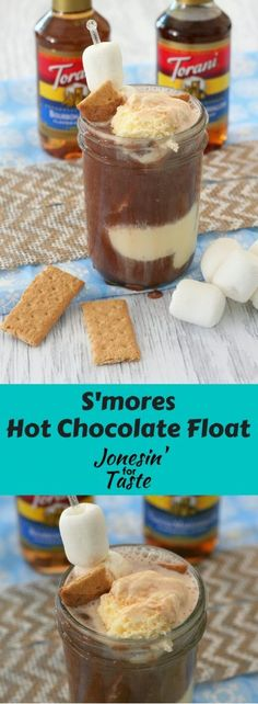 #ad A Smores Hot Chocolate Float is a fun way to combine two favorites into one drink that you can enjoy during the holidays or anytime of the year! #FlavorSplash #CollectiveBias @ToraniFlavor @walmart